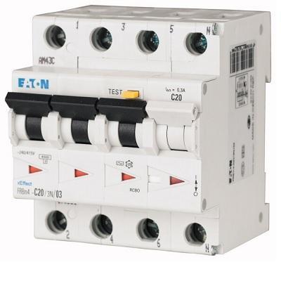 Magnetotermico Differenziale 4x25A 0,03A 4kA EATON FRBM4-C25/3N/003