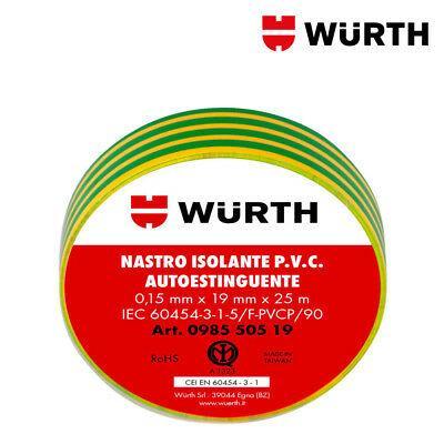 Nastro Isolante 19x25 Giallo verde Wurth Wurth
