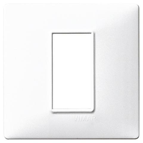 Placca 1M Bianco per Scatola Rotonda Vimar
