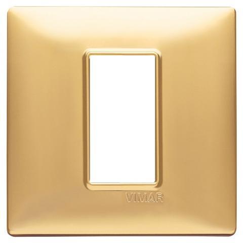 Placca 1M Oro Opaco per scatola rotonda Vimar