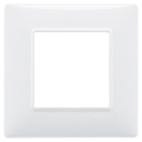 Placca 2M Bianco per Scatola Rotonda Vimar