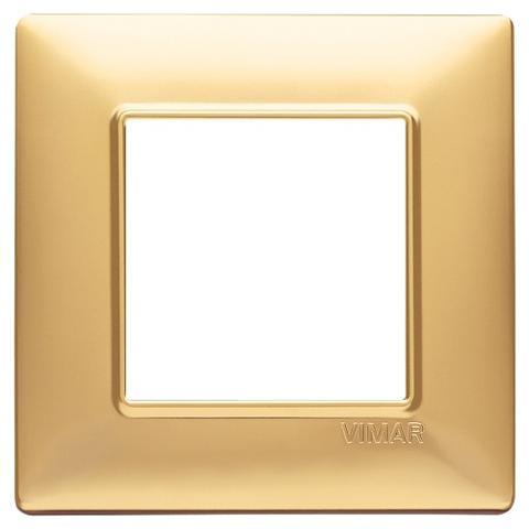 Placca 2M Oro Opaco per scatola rotonda Vimar