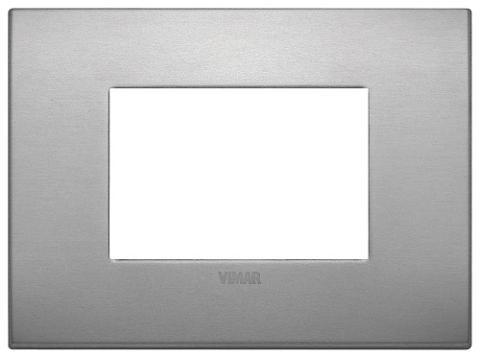 Placca 3m Alluminio Lava Vimar