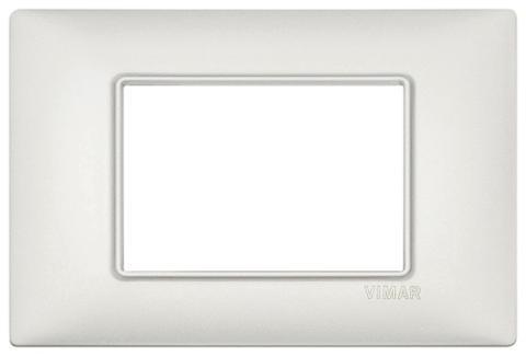 Placca 3m Metallo Argento Perlato Vimar