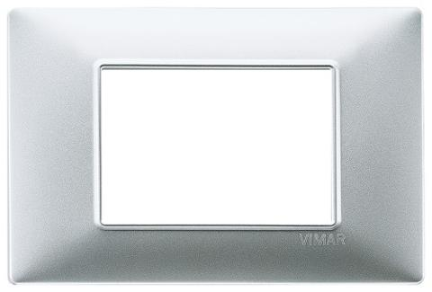 Placca 3m Tecnopolimero Argento Opaco Vimar