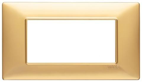 Placca 4m Tecnopolimero Oro Opaco Vimar