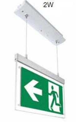 Plafoniera Emergenza 2w a Bandiera Sospensione SE/SA  VT-521