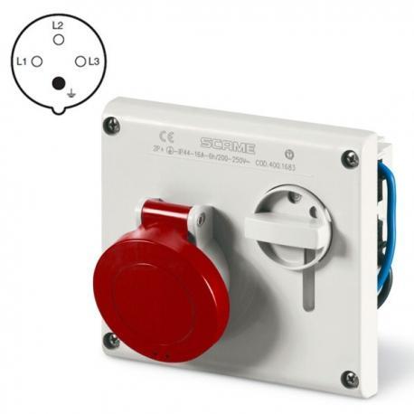Presa Incasso Interbloccata 3P+T IP44 16A 380V SCAME