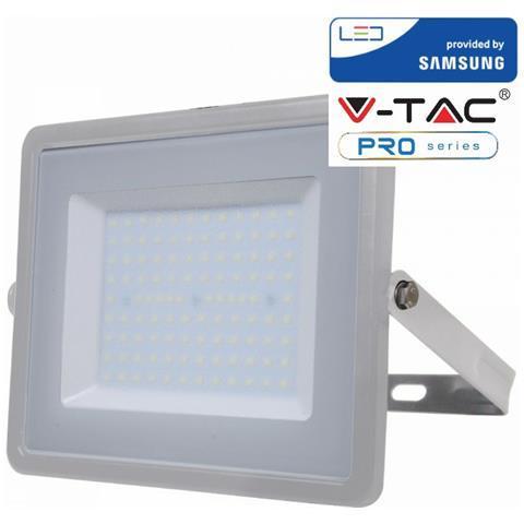 Proiettore Led 100W Luce Fredda SLIM 8000 Lumen Grigio V-TAC