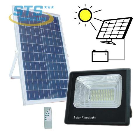 Proiettore LED 40w Luce Fredda con Pannello Solare V-TAC VT-40W