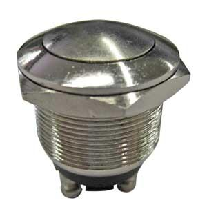 Pulsante Metallico Antivandalo NA 19mm MET