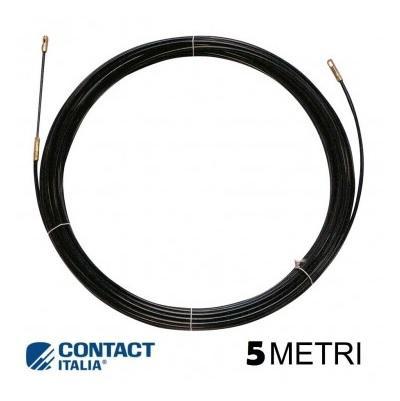 Sonda Nylon 4mm 5mt Nera Con terminali intercambiabili