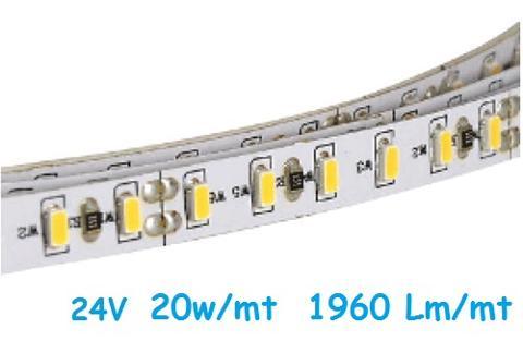 Strip LED 24V 2835 240 Led/mt 20w/mt Luce Natura ELCART