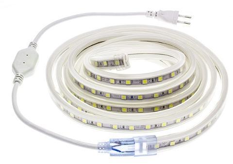 Strip LED 5050 IP65 60 led/mt 10w/mt 230V Luce Fredda Pris