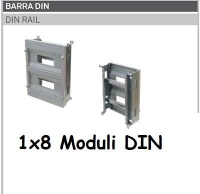 Supporto DIN 1x8 Moduli per Quadro Termoplastico 210x280