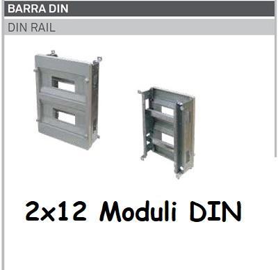 Supporto DIN 2x12 Moduli per Quadro Termoplastico 400x300