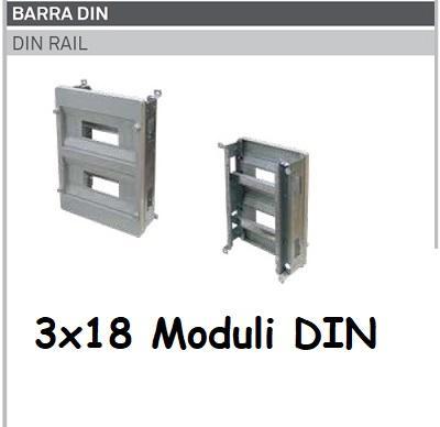 Supporto DIN 3x18 Moduli per Quadro Termoplastico 500x400