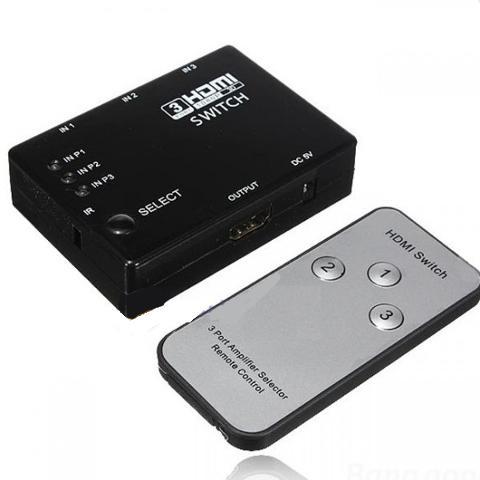 Switch HDMI 3 Ingressi 1 Uscita con Telecomando 4k