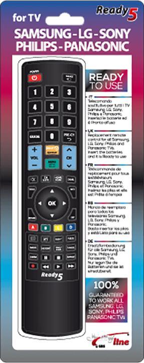 Telecomando Universale 5in1 Compatibile Smart TV Samsung, LG, Sony, Philips, Panasonic Jolly Line