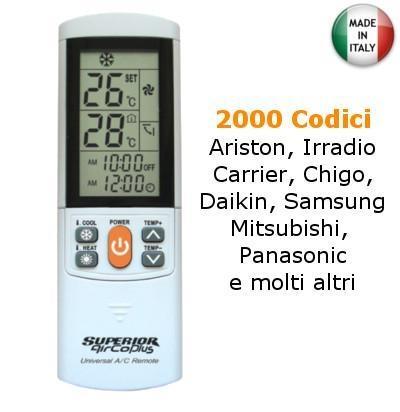 Telecomando Universale per Condizionatori 2000 Codici