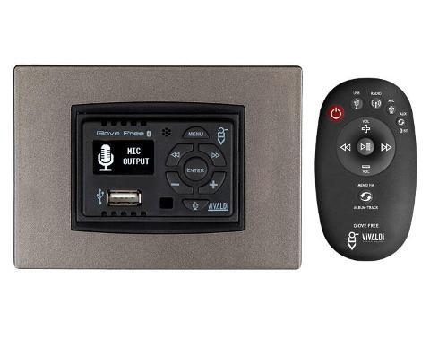 Centralina Hi-Fi 25+25w Blutooth integrato per scatola 503 Nero Vivaldi