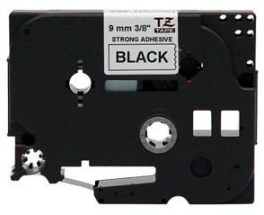 Nastro Laminato 9mm Nero su Bianco per Etichettatrice Brother Brother