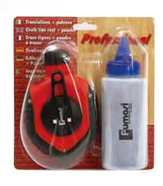 Tracciatore in Plastica 30mt con kit polvere Blu Fumasi
