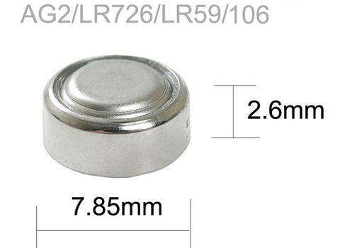 Batteria a Bottone 1,5V LR59 LR726 397 AG2