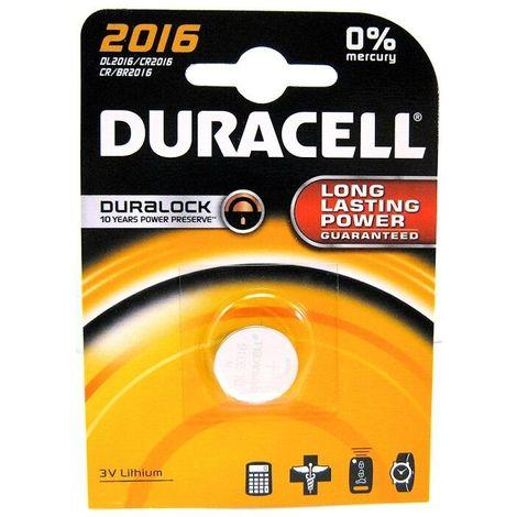 Batteria a Bottone 3V 2016 Duracell DL2016