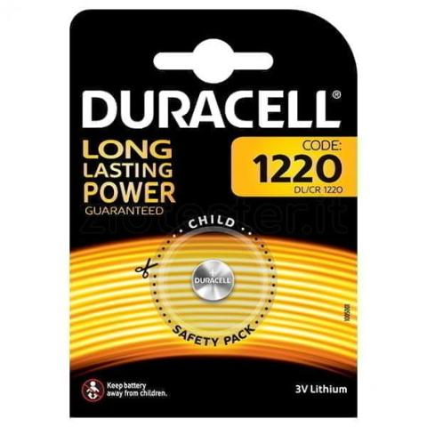 Batteria a Bottone 3V CR1220 Duracell CR1220