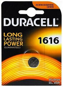 Batteria a Bottone 3V CR1616 Litio Duracell DL1616