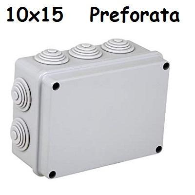 Cassetta 10x15 IP65 C/Gommini Elettrocanali