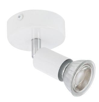 Faretto Spot GU10 Orientabile a parete Bianco Prism