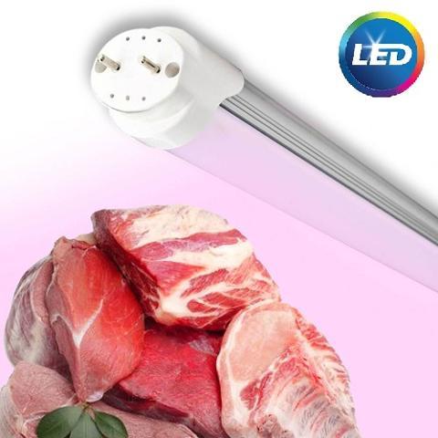 Neon Led T8 120cm 20w 1600 Lumen per Macelleria Pris LED120CARN