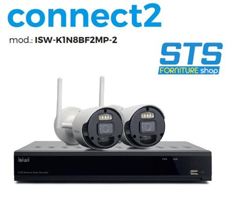 Kit TVCC Wifi 8 Canali 2Mp + 2 Bullet Wifi ISIWI VS-ISW-K1N8BF2MP-2