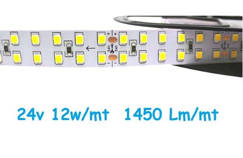 Strip LED 24V 2835 240 Led/mt 12w/mt Luce Natura Iperlux