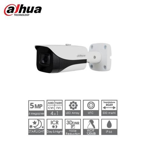 Telecamera Bullet 4in1 5 Megapixel 3,6mm Starlight IR 40mt Dahua HAC-HFW2501EA