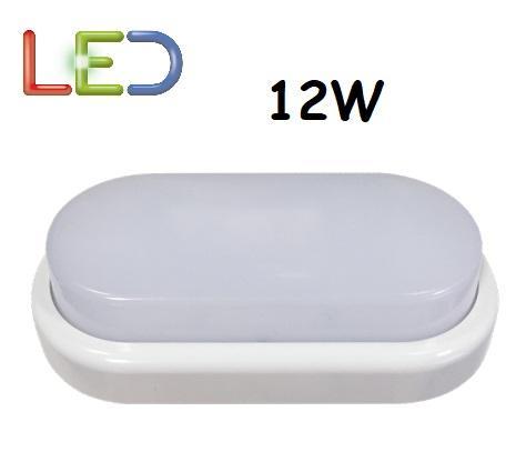 Plafoniera LED Ovale 12w Luce Natura 890 Lumen Iperlux