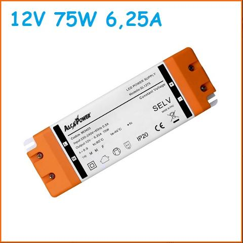 Led Driver Slim 12v 75w 6,25A Alcapower