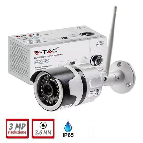 Telecamera Wireless 3 Megapixel da Esterno Con Audio V-TAC VT-5158
