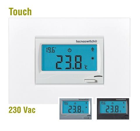 Termostato Elettronico Touch Da Incasso 230V Bianco Tintoretto Tecno Switch Tintoretto