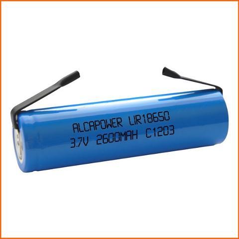Batteria Li-ion 18650 3,7V 2600mAh Terminali a Saldare Alcapower