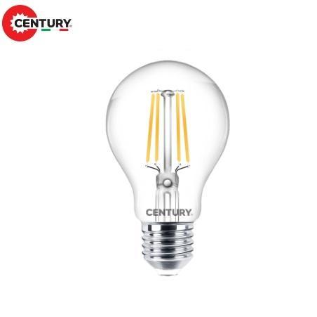 Lampada Goccia LED a Filamento E27 8w Luce Calda 806 Lumen Century