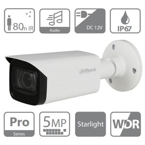 Telecamera Bullet 4in1 5 Megapixel 2,7-13.5mm Motorizzata Starlight IR 80mt Dahua HAC-HFW2501TPZA