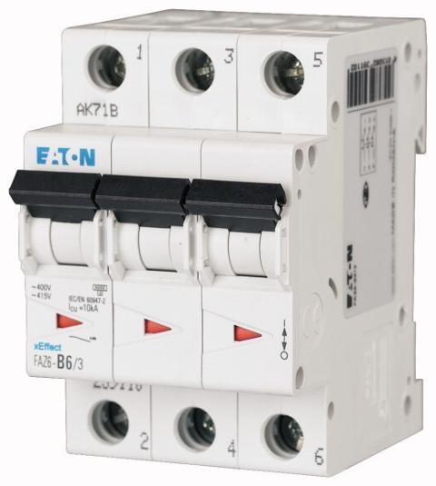 Interruttore Magnetotermico 3x32A C 6KA FAZ6-C32/3 EATON
