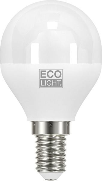 Lampada Mini Sfera Led 6w E14 Luce Fredda 470 Lumen Eco Light