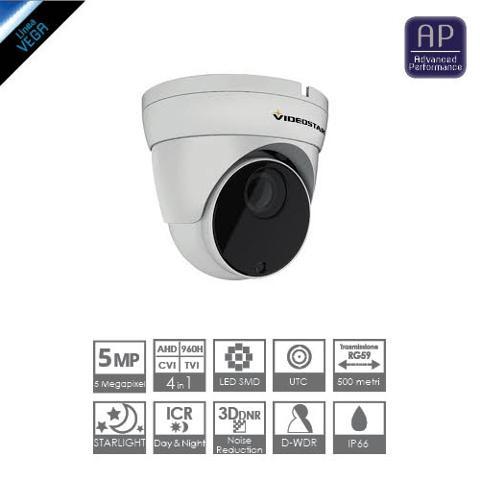 Telecamera Dome 4in1 5 Megapixel Varifocal 2,8-12mm Starlight Videostar