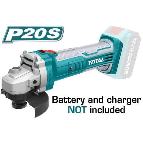 Smerigliatrice Angolare 115mm a Batterie TOTAL