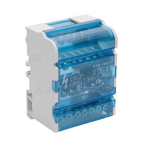 Morsettiera 4x125A per Barra DIN 4 Moduli Kanlux