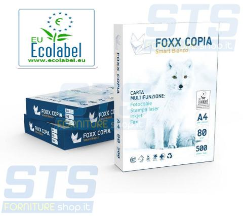 Carta Multifunzione Inkjet Laserjet A4 80GR Risma 5x500 fogli Fox Smart Bianco